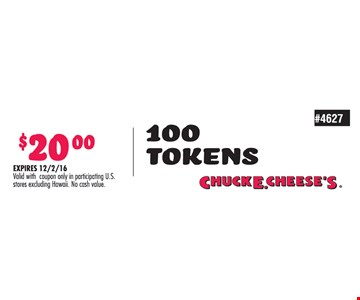 100 tokens for $20.