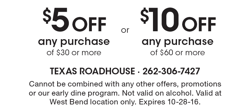 image about Uno Coupons Printable named Roadhouse grill discount codes printable. hopewell scorching bagels