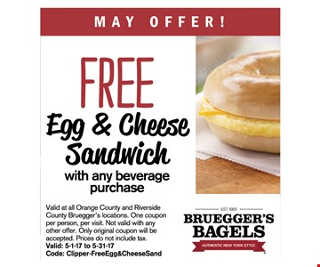Free Egg & Cheese sandwich