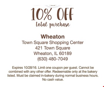 10% off total purchase