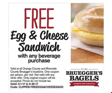 Free Egg & Cheese Sandwich