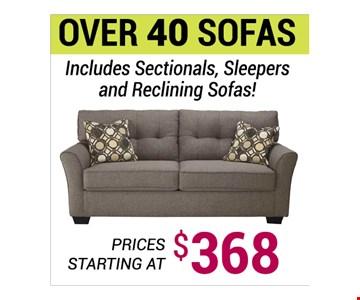 Sofas starting at $368