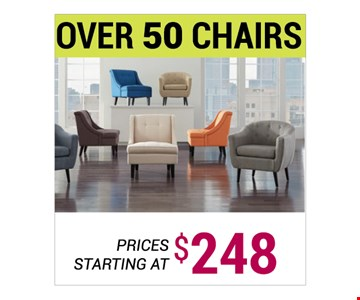 Over 50 Chairs starting at $248