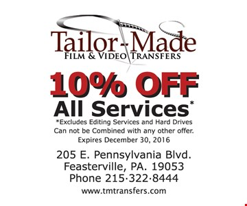 10% Off All Services
