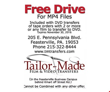 free drive for MP4 files
