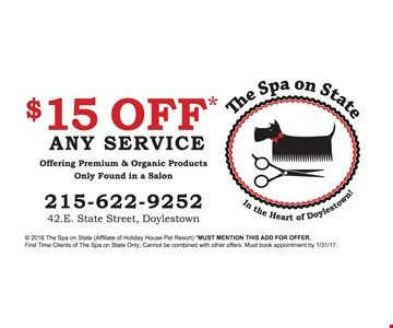 $15 off any service