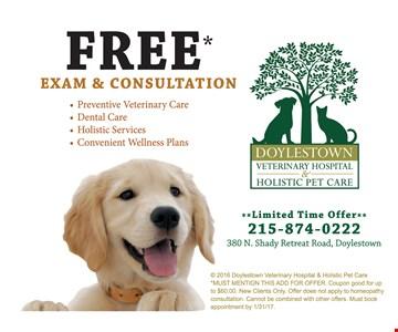 free exam & consultation