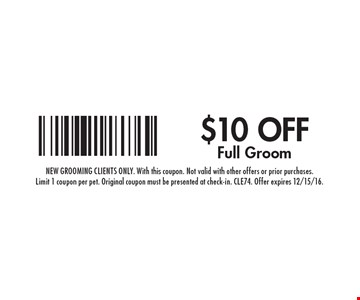 $10 off full groom