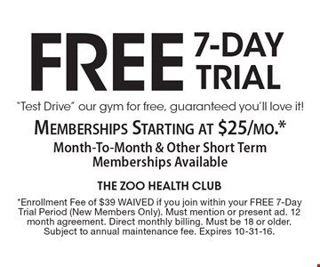 Free 7-Day Drial –