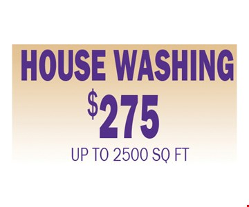 house washing $275