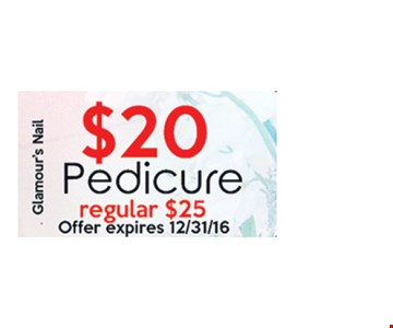 Pedicure for $20.