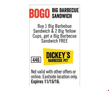 BOGO Big Barbecue Sandwich