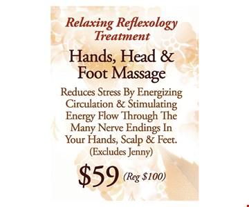 Hands, Head, & Foot Massage for $59