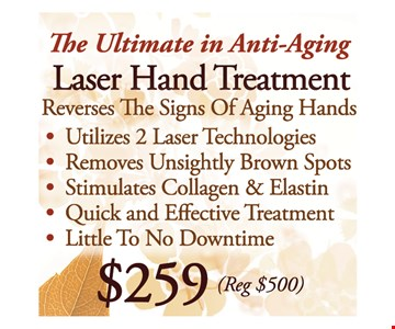 Laser Hand Treatment for $259