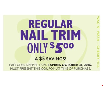 Regluar Nail Trim Only $5