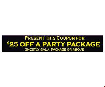 $25 off a party package
