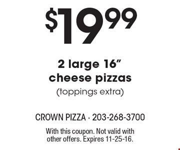 $19.99 2 large 16