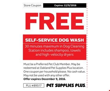 FREE Self-Service Dog Wash