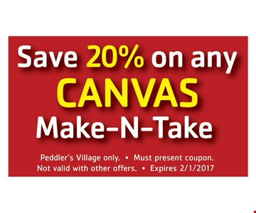 Save 20% On Any Canvas