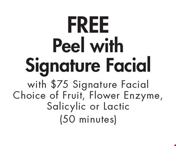 FREE Peel with Signature Facial with $75 Signature Facial Choice of Fruit, Flower Enzyme, Salicylic or Lactic (50 minutes). With this ad. Valid at Village Health Wellness Spa Marietta only. Not valid with other offers. Exp. 9/29/17.