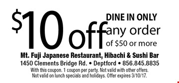 Mt fuji restaurant coupons