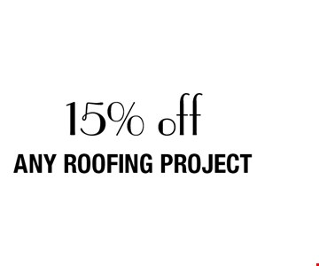 15% off any roofing project.