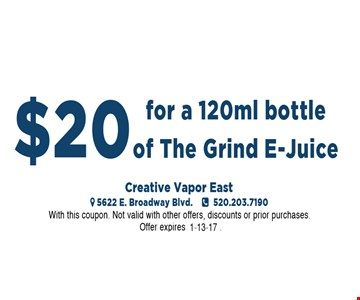 Grind E-Juice for $20.