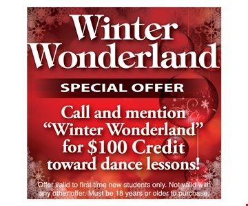 Winter Wonderland $100 Credit Toward Dance Lessons