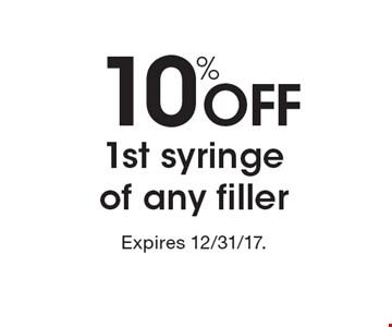 10% off 1st syringe of any filler.