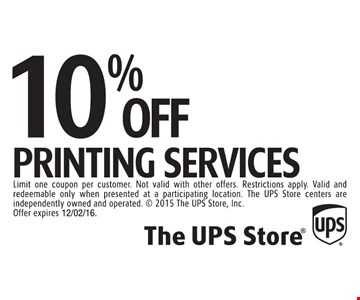 10% off printing services