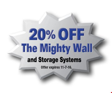 20% OFF The Mighty Wall and Storage Systems