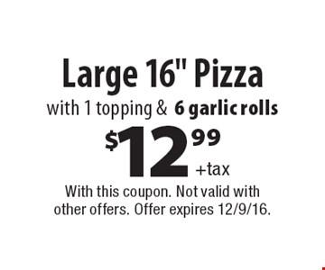 $12.99+taxLarge 16