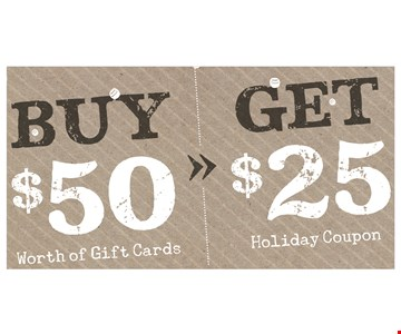 Free $25 coupon with purchase.