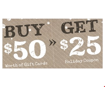 Free $25 holiday coupon with purchase