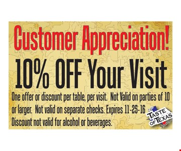 10% Off Your Visit