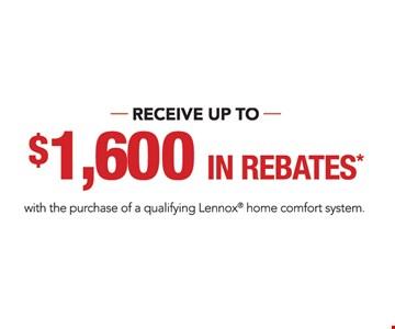 up to $1600 in rebates