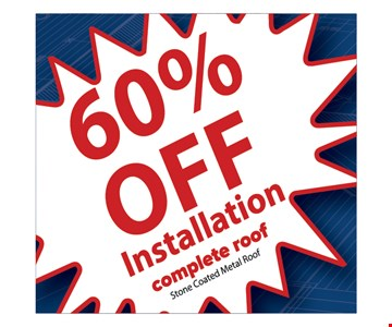 60% off Installation