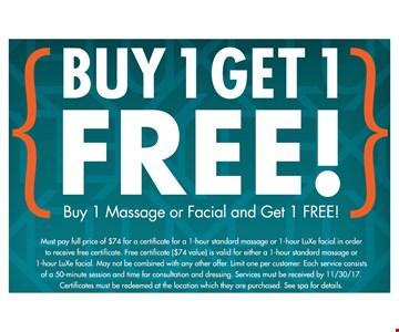 Buy 1 Get 1 Free!