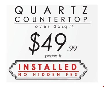 Quartz Countertop $49.99