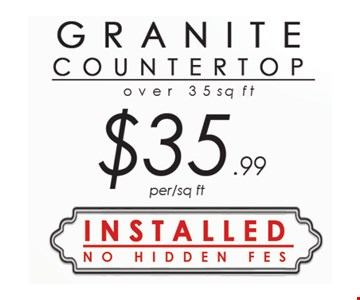 Granite Countertop $35.99