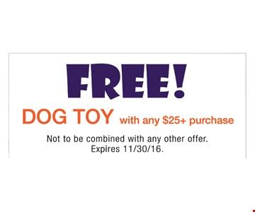 Free dog toy