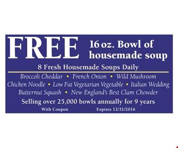 Free bowl of soup.