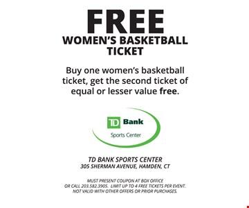 Free women's basketball ticket