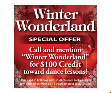 Winter Wonderland Special Offer
