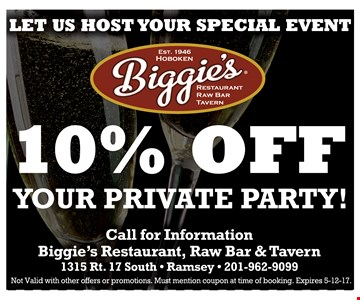 10% off your private party