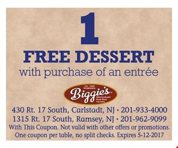 1 free dessert