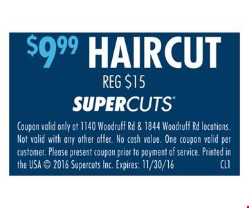 $9.99 Haircut
