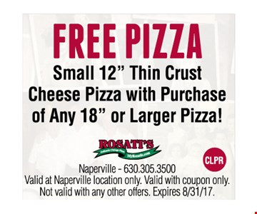 Free Pizza. Small 12