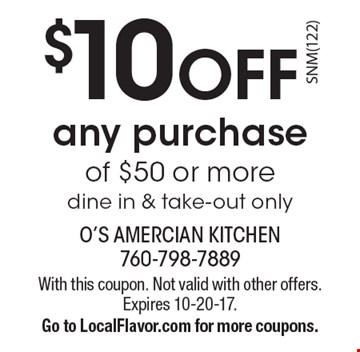 O american kitchen coupons 2018
