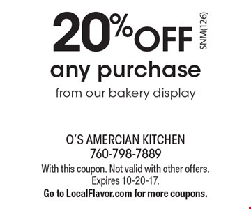O S American Kitchen Coupon San Marcos
